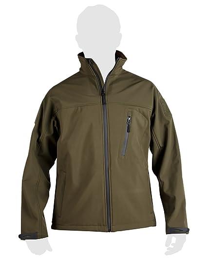 Mens Military Army Combat Recon Zip Fleece Trooper Sweat Shell Jacket Shark  Green (Medium) 6d504bff43