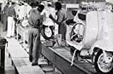 1964 1965 Lambretta Scooter Factory Scene Photo India