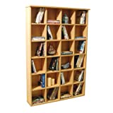 PIGEON HOLE - 480 CD / 312 DVD Blu-ray Media Storage Shelves - Beech by WATSONS