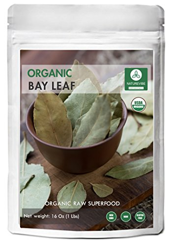 Organic Bay Leaf (1lb) by Naturevibe Botanicals, Gluten-Free, Raw & Non-GMO (16 ounces) by Naturevibe Botanicals