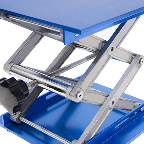 Wisamic 8x8 inch Lab Jack, Aluminium Laboratory Scissor Jack Lift Table,  Oxide Lab Lifting Platform Stand