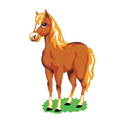 amazon com reeves color shape by numbers horse arts crafts