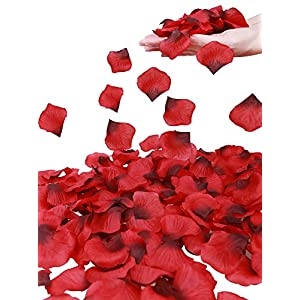 Simplicity 1000 Pcs Rose Petals Wedding,Anniversary,Party Decoration,Re/Dark Red 21