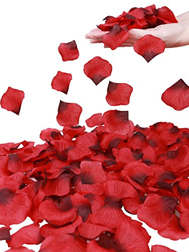 Simplicity 1000 Pcs Rose Petals Wedding,Anniversary,Party Decoration,Re/Dark Red