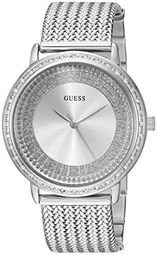 GUESS Women's Stainless Steel Crystal Casual Watch, Color: Silver-Tone (Model: U0836L2)