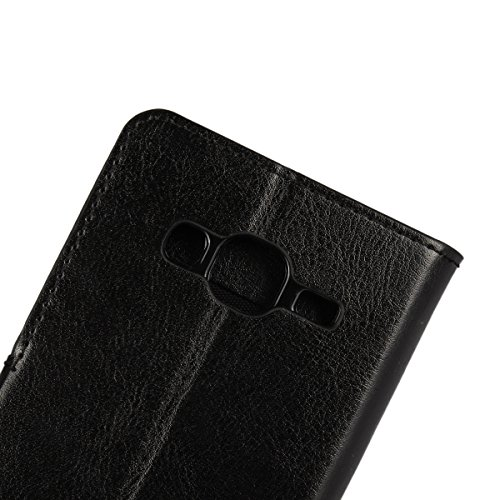 Galaxy J3 (2016) Funda,COOLKE Retro PU Leather Wallet With Card Pouch Stand de protección Funda Carcasa Cuero Tapa Case Cover para Samsung Galaxy J3 (2016) 5.0 - Rosa Blanco