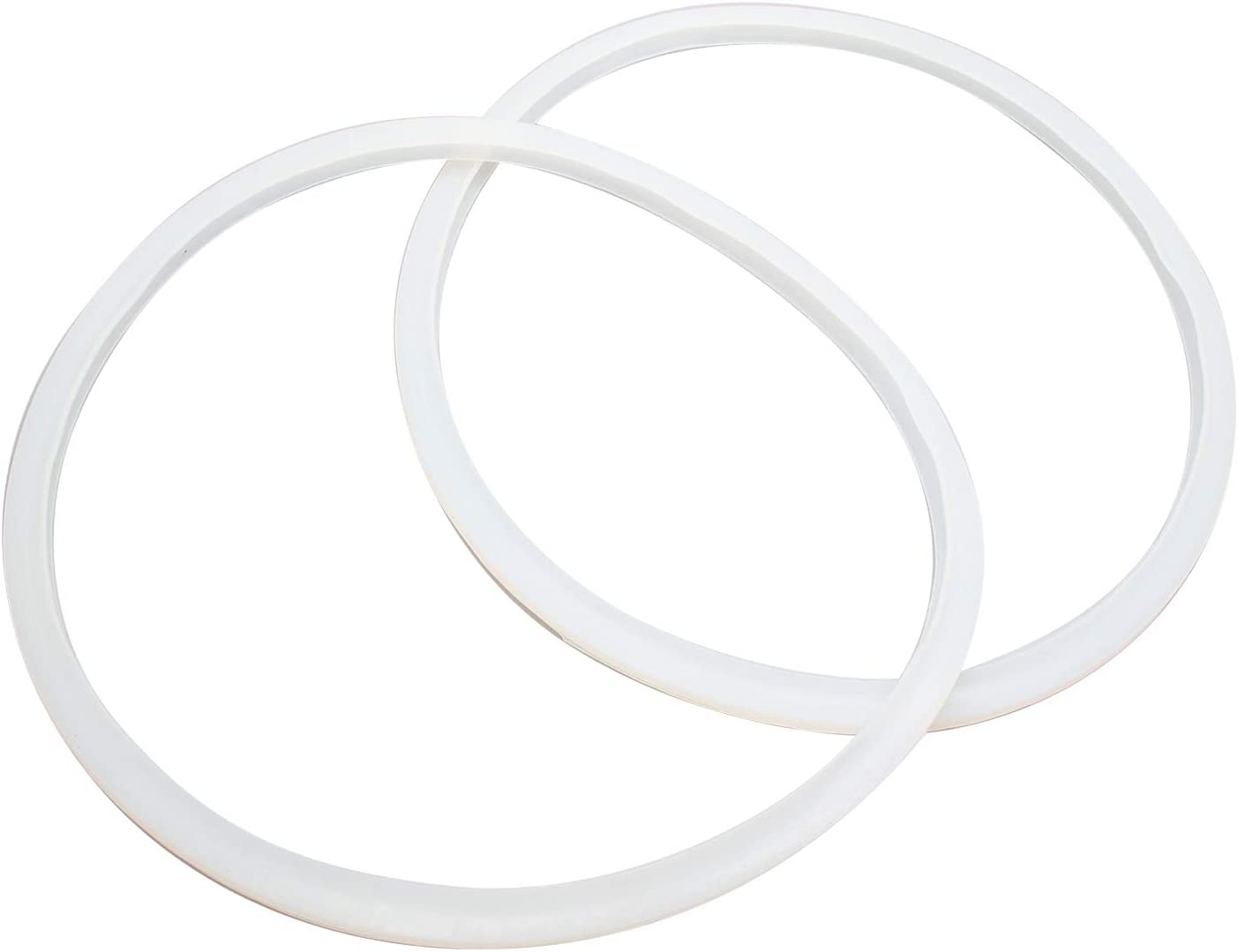 Semetall 2 Pack 10 Inch(Inner Diameter: 260 mm) Universal Pressure Cooker Sealing Ring,Pressure Cooker Replacement Gasket (Transparent)