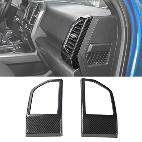 - Voodonala Carbon Fiber Grain Dashboard Side Outlet Vent Covers Trim for Ford F150 2015 2016 2017