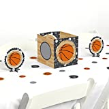 Big Dot of Happiness Nothin' But Net - Basketball - Baby Shower or Birthday Party Centerpiece & Table Decoration Kit