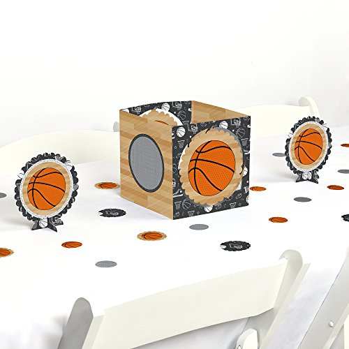 Big Dot of Happiness Nothin' But Net - Basketball - Baby Shower or Birthday Party Centerpiece & Table Decoration Kit by Big Dot of Happiness