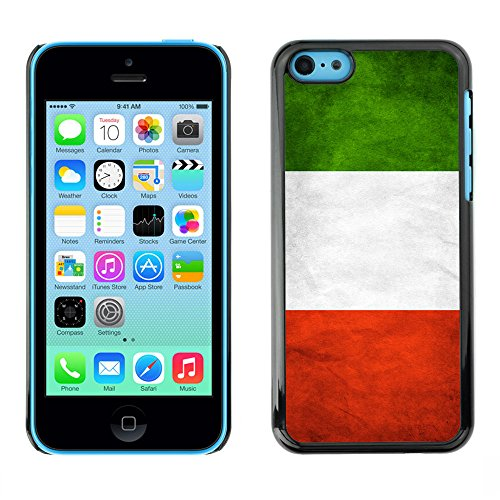 Omega Case PC Polycarbonate Cas Coque Drapeau - Apple iPhone 5C ( Italy Grunge Flag )