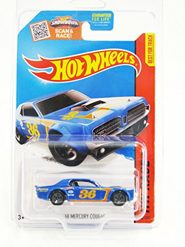 Mattel Hot Wheels, 2015 HW Race, '68 Mercury Cougar [Blue...