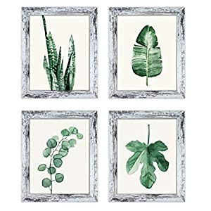 Q.Hou 8×10 Picture Frame Wood Patten Distressed White Photo Frames Packs 4 with High Difinition Glass for Tabletop or…