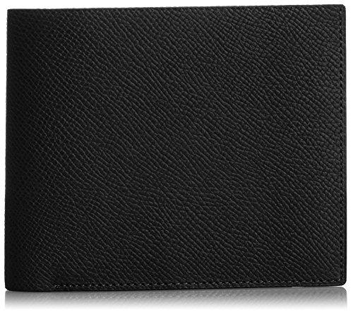 MAISON de HIROAN Leather Bifold Wallet Made in Japan 21552 Black/Blue by MAISON de HIROAN