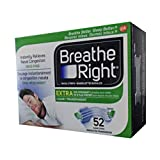 Breathe Right Extra Nasal Strip,(Clear), 52 Strips (Value Pack)