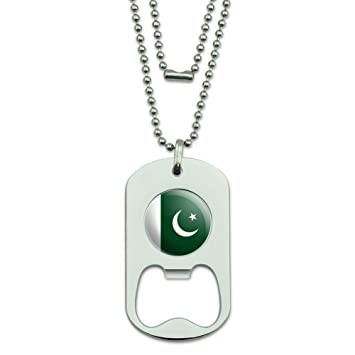 Pakistan National Land Flagge Dog Tag Flaschenoffner Amazon De