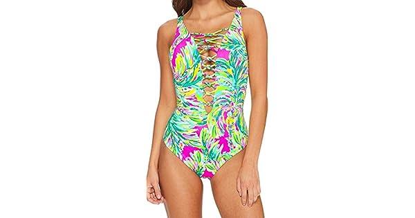 Amazon.com: lilly pulitzer para mujer isla Entramado traje ...