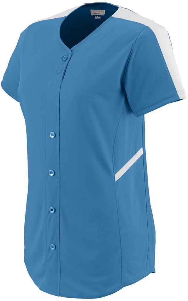 Augusta SportswearレディースCloser Softball Jersey B00P53WD0M Medium|コロンビアブルー/ホワイト コロンビアブルー/ホワイト Medium