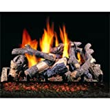 ''R.H. Peterson CHDSG4-30 - 30'''' Charred Oak Stack Vented Gas Logs with Burner for Natural Gas Fireplaces.''