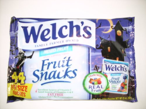 WELCH'S Fruit Snacks Halloween Fun Size Mixed Fruit, 44 Count -