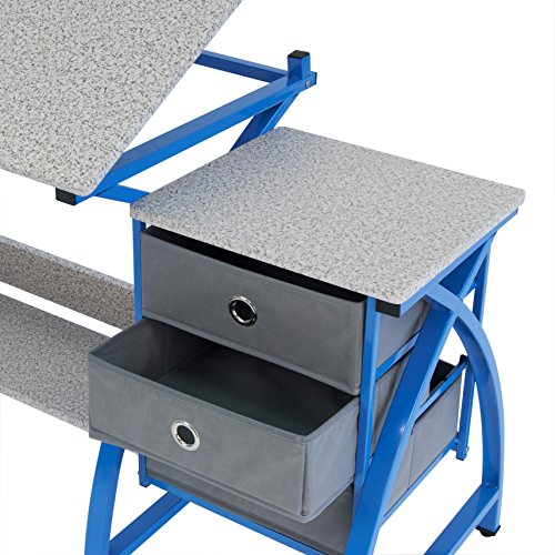 Comet Center with Stool in Blue / Spatter Gray by SD STUDIO DESIGNS (Image #1)