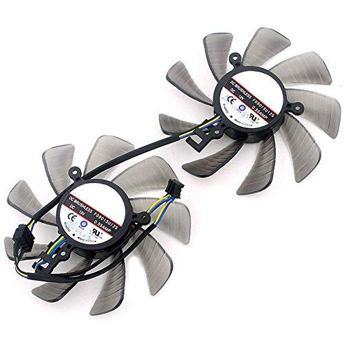 FD9015U12S 85MM 4Pin Cooling Fan For Sapphire XFX AMD Radeon HD7950 HD 7970 Dual-X Cooler Fans (2pcs/lot) by Z.N.Z