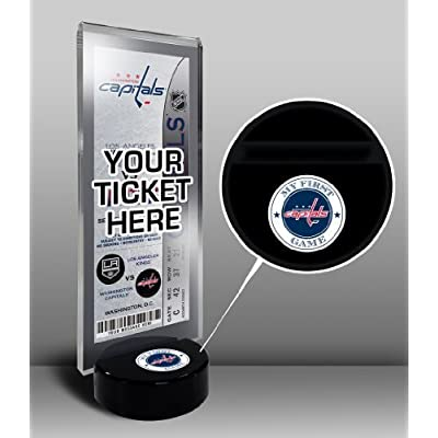 NHL Washington Capitals My First Game Hockey Puck Ticket Stand, One Size, Multicolored by That's My Ticket