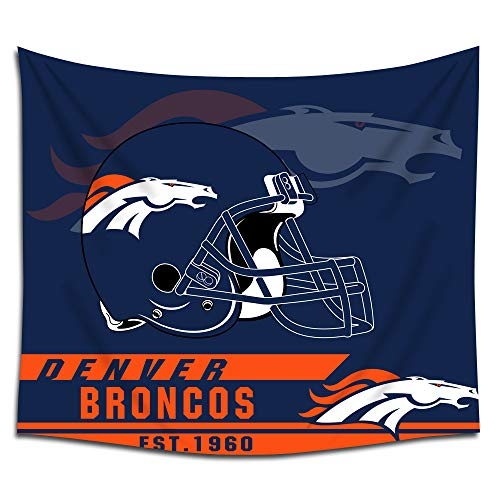 Jacoci Denver Broncos Wall Tapestry Hanging Cool Design for Bedroom Living Room Dorm Handicrafts Curtain Home Decor Size 50x60 Inches ()