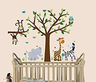 Baby Nursery / Wall Decals for Children ( Safari Animals, Tree, etc )