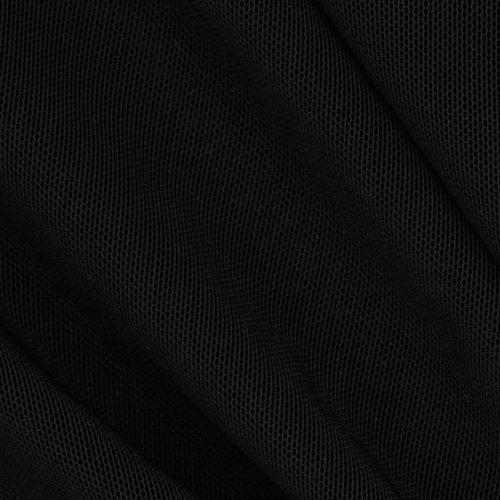 - TELIO UK-959 Stretch Nylon Shaper Mesh Black Fabric by The Yard,