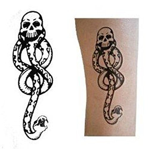 Temporary Tattoos Five - Harry Potter Death Eaters Snake-Shaped Temporary Tattoo Body Graphics 5 Sheets