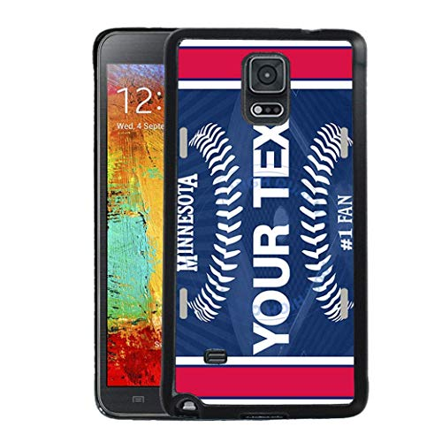 Twins Note Minnesota - BRGiftShop Personalize Your Own Baseball Team Minnesota Rubber Phone Case For Samsung Galaxy Note IV 4