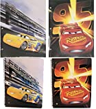 Disney Pixar Cars 3 School Supplies - 2 Folders and 2 Notebooks with Lightning McQueen and Cruz Ramirez