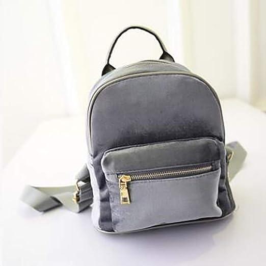 354492db5a Amazon.com  Fashion Rucksack Backpack Black Grey Purple Gold Velvet ...