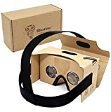 Blisstime Google Cardboard V2.0 3D Glasses Vr Virtual Reality Cardboard Kit with Headband Fit for 3-6inch Screen