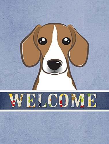 Beagle Flag (Caroline's Treasures BB1425GF Beagle Welcome Flag, Small, Multicolor)