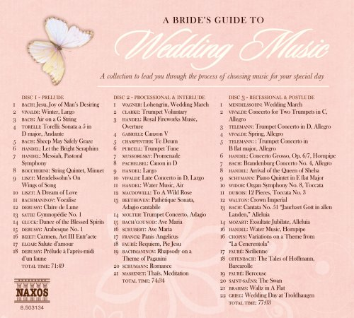 Bride's Guide to Wedding Music / Various by Naxos