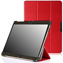 MoKo Samsung Galaxy Tab S 10.5 Case - Ultra Slim Lightweight Smart-shell Stand Case for Samsung Galaxy Tab S 10.5 Inch Android Tablet, RED (With Smart Cover Auto Wake / Sleep)