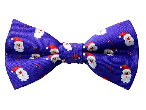 Spring Notion Boy's Printed Microfiber Christmas Theme Bow Tie