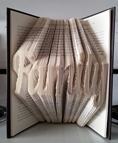Family book sculpture. Cursive font. Custom handmade folded book sculpture. Perfect for any occasion! (Folded Handmade)