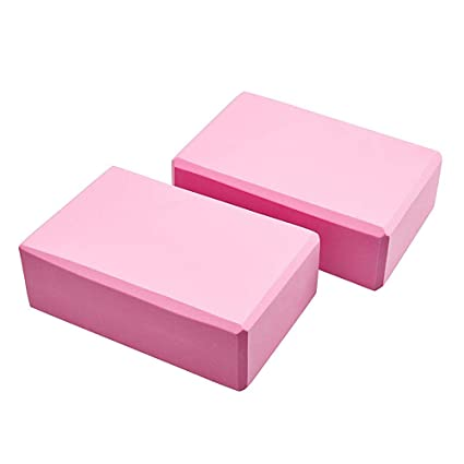 Amazon.com : Yoga Block - 2-Pack Yoga Brick, High Density ...