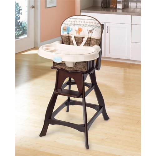 Summer Infant Carter's Classic Comfort Reclining Wood High Chair, Animal Parade, Baby & Kids Zone