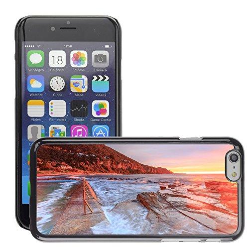 """Stampato Modelli Hard plastica Custodie indietro Case Cover pelle protettiva Per // M00421727 Sand Beach Côte Shore Sunset // Apple iPhone 6 4.7"""""""
