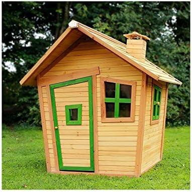 Spielhaus Casa de Juguete Niños de distribución en casa de Juguete BV Jardín Casa Juego cabaña de Madera para niños – (3374): Amazon.es: Juguetes y juegos