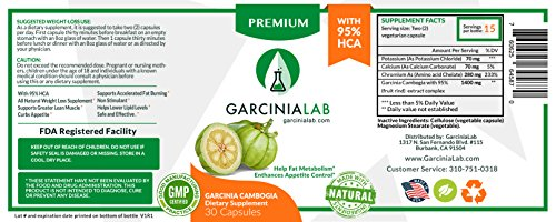 Garcinia Cambogia 3 Pack 95% HCA 100% Pure Premium Extract for Fast & Effective Weight Loss Supplement 1540 MG. Natural Appetite Suppressant 90 Capsules Made in USA
