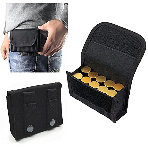 Pouch Round 20 Nylon (FIRECLUB 10 Round Shotgun Shotshell Reload Holder Molle Pouch For 12 Gauge/20G (Black))