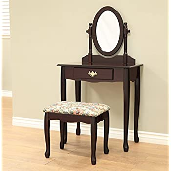 Amazon Com Frenchi Home Furnishing 3 Piece Wood Vanity