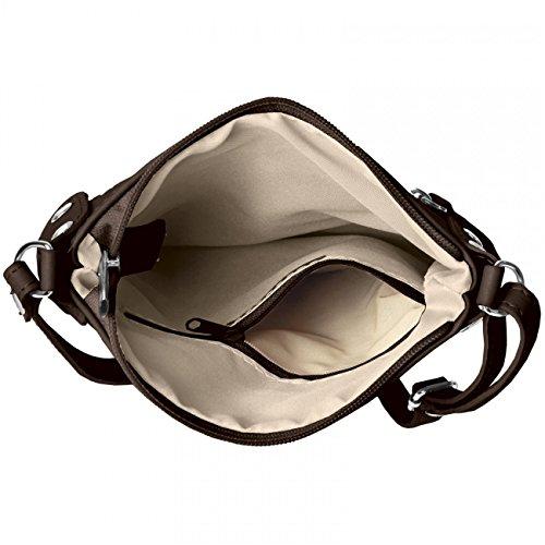 CASPAR Fashion - Bolso cruzados para mujer Marrón - marrón oscuro