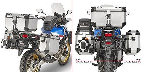 GIVI PL1161CAM Saddlebag Holder For Trekker Outback Cases for Honda CRF1000L Africa Twin Sports and Standard (2018-2019)