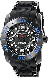 Swiss Legend Men's 'Commander Pro' Swiss Quartz Stainless Steel Casual Watch (Model: 10069-BB-01-BLA)